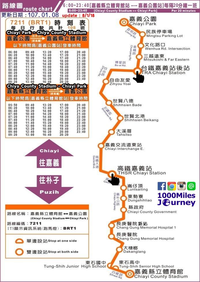 BRT No.7211 timetable