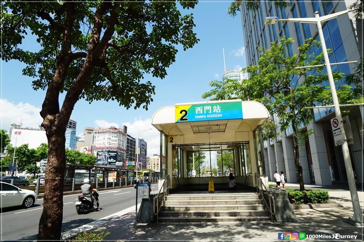 MRT Ximen Exit 2