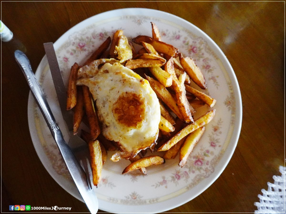 French fried and fried egg