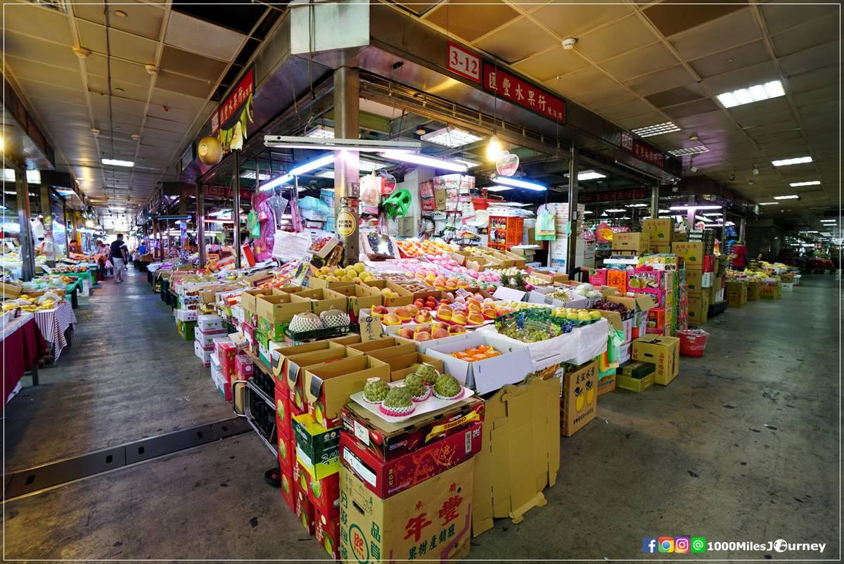 ตลาดผลไม้ในไทเป
