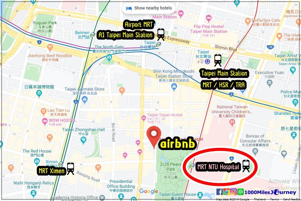 airbnb near Taipei Main Station